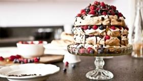 Čokoládovo-malinový dort Pavlova  Foto: Kitchenette.cz