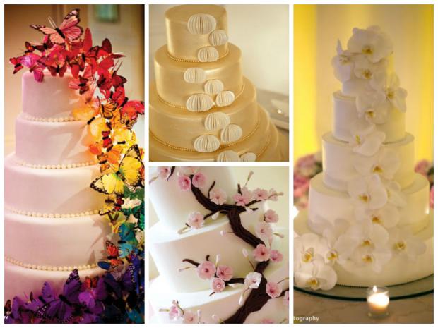 Koláž- svatební dorty