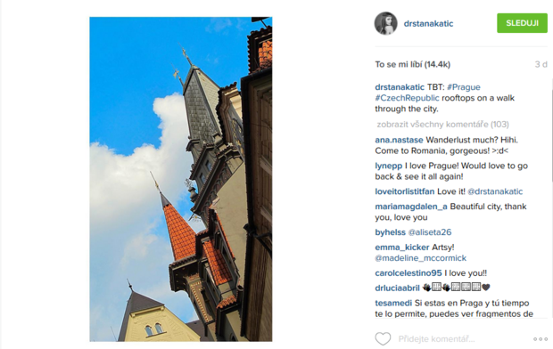 Castle na zabití - Stana Katic v Praze Foto: