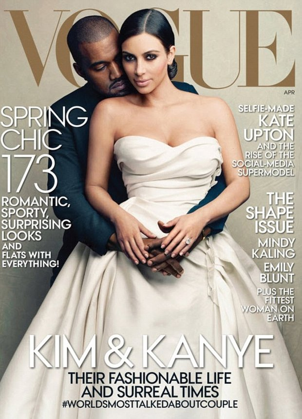 Kim Kardashian a Kayne na obálce Vogue Foto: