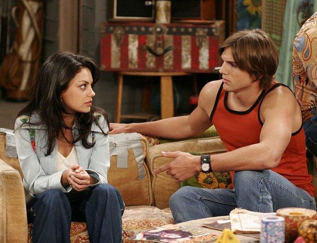 Seriál Zlatá sedmdesátá (1998) Mila Kunis a Ashton Kutcher Foto: archiv