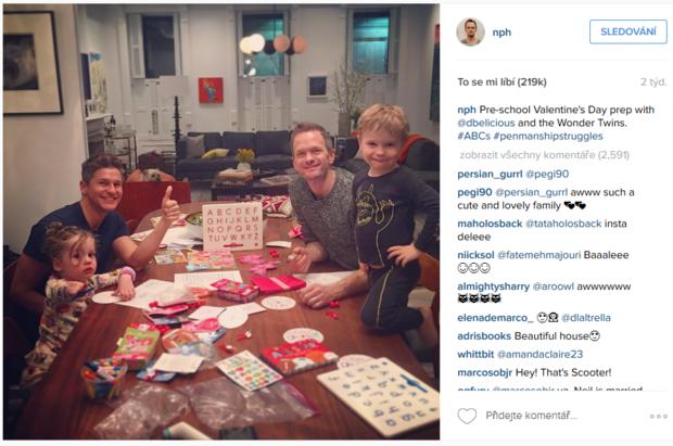 Neil Patrick Harris a valentýnský večer Foto: