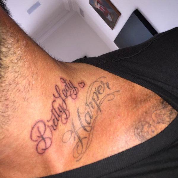 David Backham a tetování Foto: